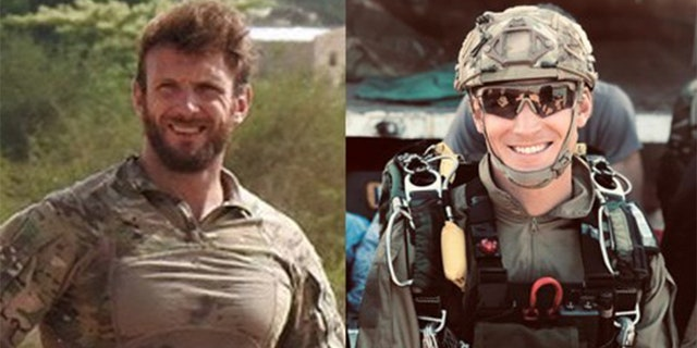 Cédric de Pierrepont, left, and Alain Bertoncello were killed Thursday during a hostage rescue mission in Burkina Faso, France says.