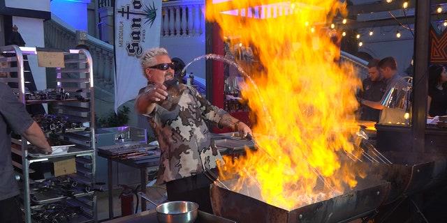 Celebrity restauranteur Guy Fieri gave food lovers a show at Vegas Uncork'd.