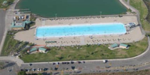 Hansen Dam Aquatic Center is a manmade freshwater lake in northeast Los Angeles.