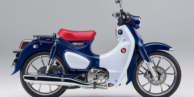 The 2019 Super Cub is only available in a red, white and blue color combination.