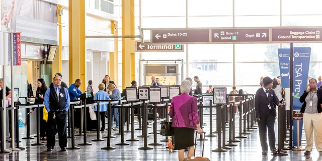 A man was taken into custody at Cleveland Hopkins International Airport (nit pictured) on Saturday after reportedly biting a police officer.