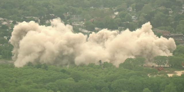 The old Bethlehem Steel building was imploded on Sunday.
