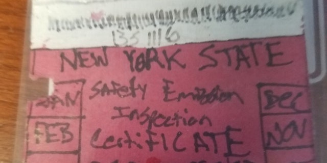 Westlake Legal Group inspect Cops bust driver for phony hand drawn inspection sticker New York Post Kenneth Garger fox-news/us/us-regions/northeast/new-york fox-news/us/crime fox-news/auto/attributes/safety fnc/auto fnc f37ead24-5aeb-52ab-94b3-34e80003a7fd article