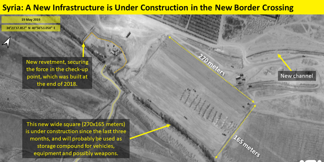 A new construction in the Albukamal Al-Qaim crossing was seen via satellite.