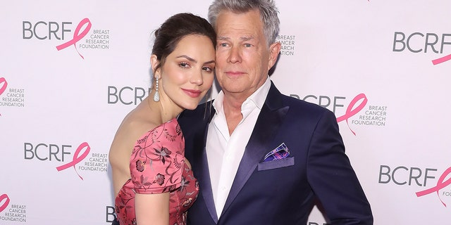 Katherine McPhee and David Foster put on daily concerts from their home.