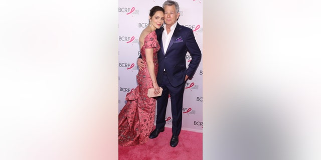 Katherine McPhee and David Foster attend the Breast Cancer Research Foundation's 2019 Hot Pink Party at Park Avenue Armory on May 15, 2019 in New York City. (Photo by Bennett Raglin/Getty Images for Breast Cancer Research Foundation)