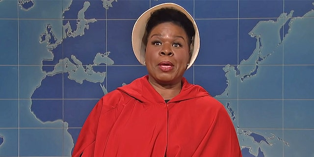 "Leslie Jones slammed the Alabama and Georgia abortion bans on ""Saturday Night Live."" The comedian compared the landscape to ""A Handmaid's Tale."""