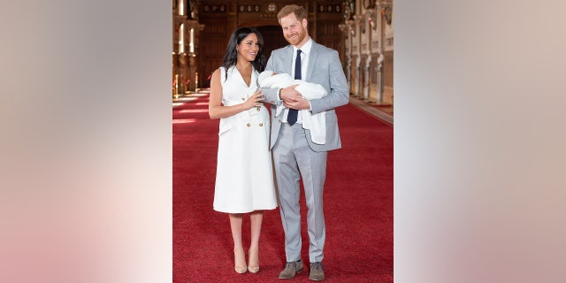 Meghan Markle and Prince Harry showed off their royal baby, known as Baby Sussex, two days after his birth. Queen Elizabeth II and Prince Philip visited their new great-grandchild the same day.