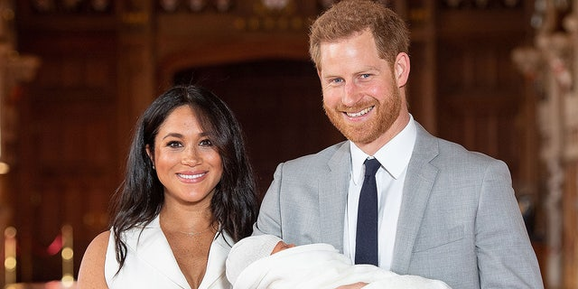 Meghan Markle and Prince Harry debuting son Archie Harrison Mountbatten-Windsor, innate on May 6.