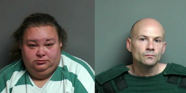 Michael Welch, right, and Misty George were sentenced Thursday after authorities said they hired a woman with disabilities for sex while forcing her to live in a shed.