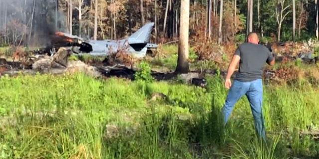 The scene of Monday's plane crash.