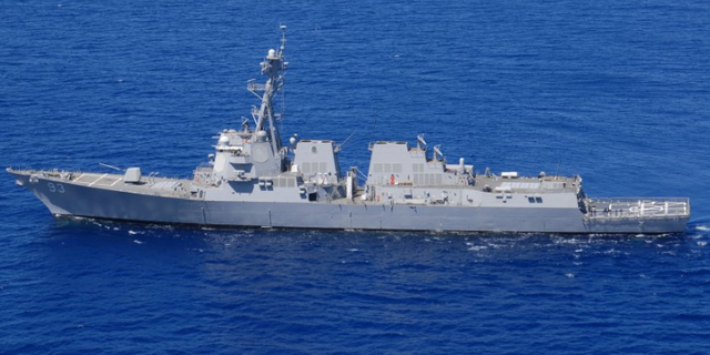 The U.S. guided-missile destroyers Preble and Chung Hoon reportedly sailed near Chinese-claimed islands on Monday.