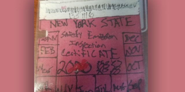 This fake inspection sticker didn't sit well with authorities in New York's Montgomery County.
