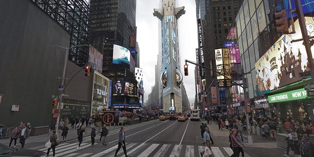 A 3D rendering of the Times Square Tower. (Barratt Homes)