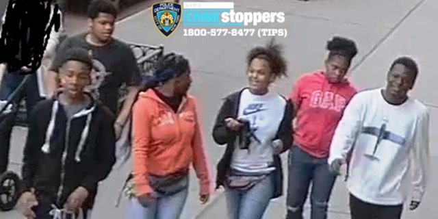 Police released this image of the suspects described as three malesand three females between the ages of 15 and 17.