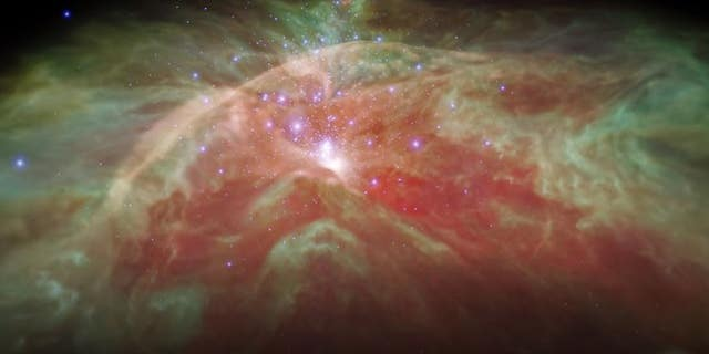 A video released by NASA provides a unique glimpse of the Orion Nebula.