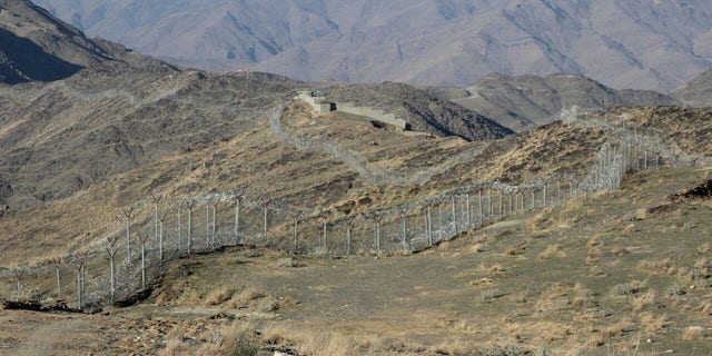 Border between Pakistan and Afghanistan along a stretch of the Federally Administered Tribal Areas (FATA)