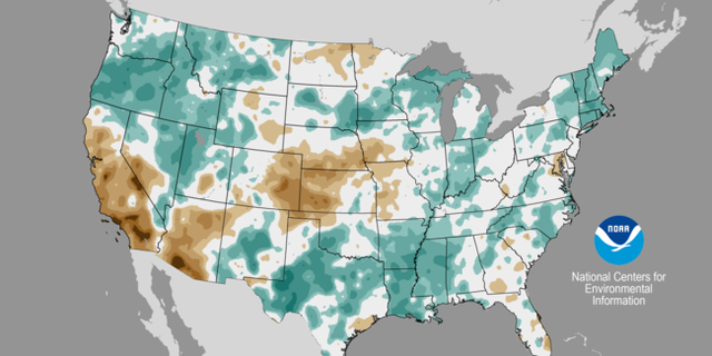 Much of the country experienced above-normal precipitation in April.