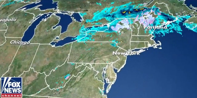 Winter weather advisories were posted Tuesday morning as snow fell across parts of the Northeast.