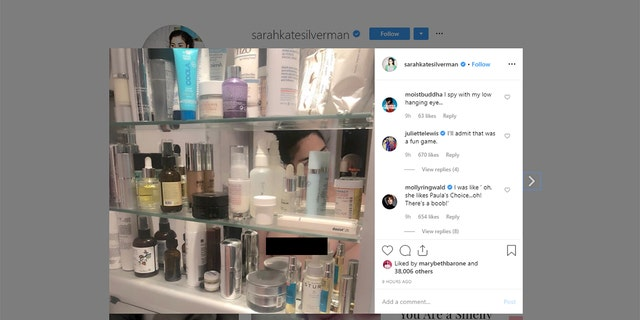 Sarah Silverman tests Instagram's community guidelines with topless