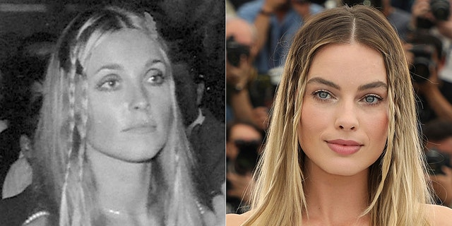 Sharon Tate in 1968 (L) and Margot Robbie in 2019 (R)
