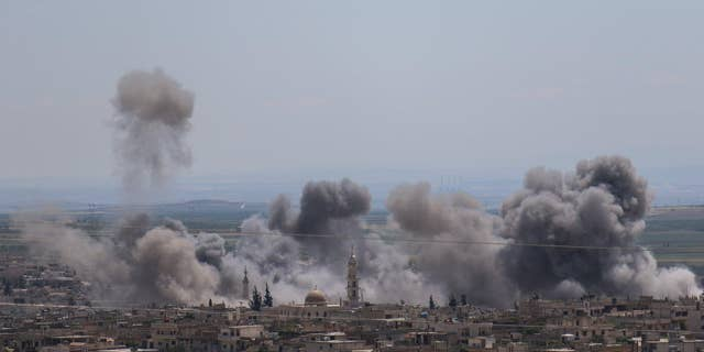 An uptick in the bombing in and around Idlib province in Syria this week.