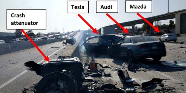 Westlake Legal Group tesla-crash-1280 Family of engineer killed in Tesla with Autopilot engaged sues automaker, DOT fox-news/auto/make/tesla fox-news/auto/attributes/safety fox-news/auto/attributes/electric fnc/auto fnc d6be7131-4c19-5c13-824e-c456ab99e3bd Associated Press article