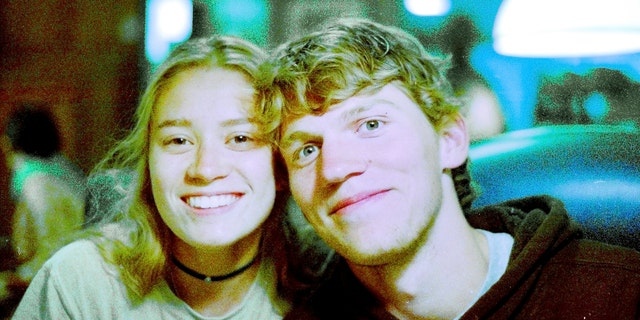 In this Sept. 1, 2017 photo provided by Matthew Westmoreland, Riley Howell, right, is seen.
