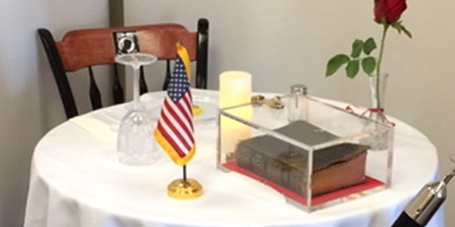 A Bible donated by a World War II veteran on display in a Manchester VA Medical Center memorial is at the center of a lawsuit filed by the Military Religious Freedom Foundation on behalf of a New Hampshire veteran.