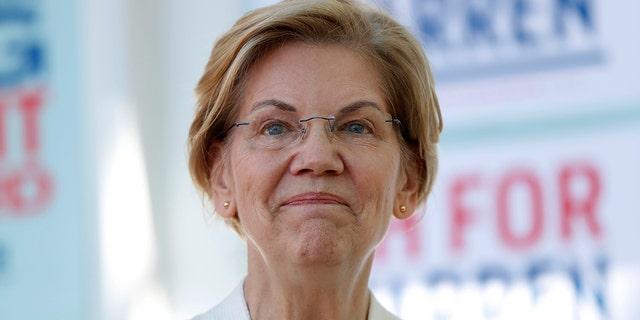 Democratic presidential claimant Sen. Elizabeth Warren, D-Mass., has called for violation adult Amazon. (AP Photo/Robert F. Bukaty)