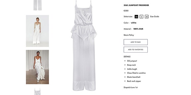 The one-piece silk design, which retails for $648, no doubt kept the bride comfy.