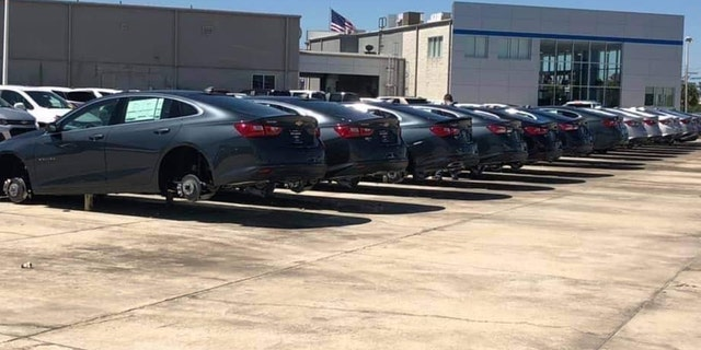 Westlake Legal Group wheels Crooks steal wheels and tires from dozens of vehicles on dealer lot Gary Gastelu fox-news/us/us-regions/southeast/louisiana fox-news/us/crime fox-news/auto/attributes/safety fox news fnc/auto fnc article 40b96d03-0590-599b-a5f8-ec8a81520375