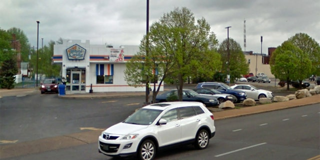 A St. Louis man said he was shot at after honking at another driver while waiting at the drive-thru of this White Caslte in south St. Louis.