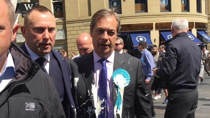 Man pleads guilty to Nigel Farage milkshake assault, ordered to pay compensation: 'An act of crass stupidity'