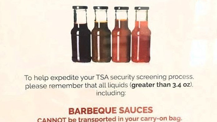 'Sticky situation': Memphis airport, TSA post warnings about packing barbecue sauce in carry-on bags