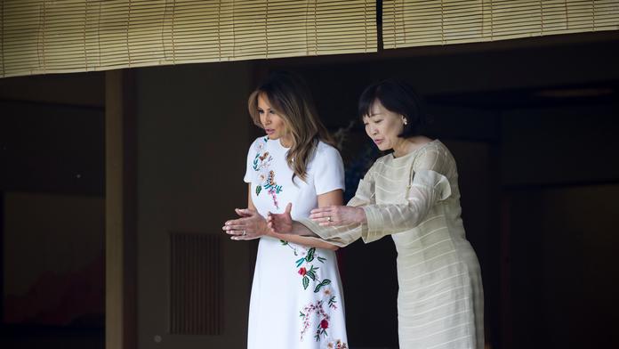 Melania Trump enjoys nature-themed Japan cultural experience