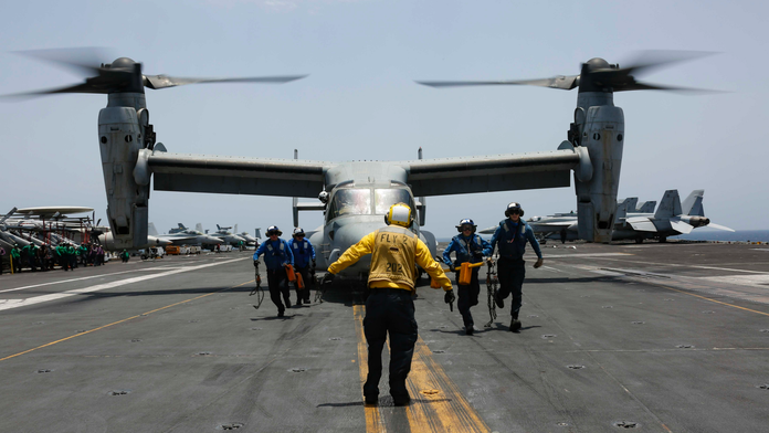 The Latest: US conducts navy exercises in Arabian Sea