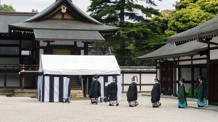 Japan uses turtle divination for emperor enthronement rites