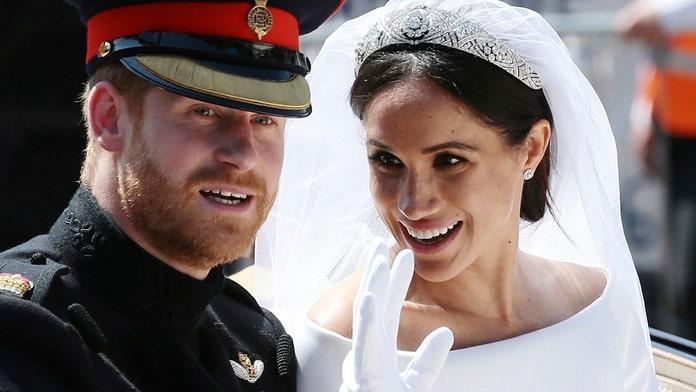 Meghan Markle's wedding dress displayed at Scottish castle
