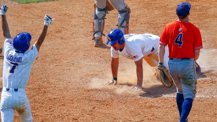 LSU eliminates Auburn from conference baseball tournament in wild finish
