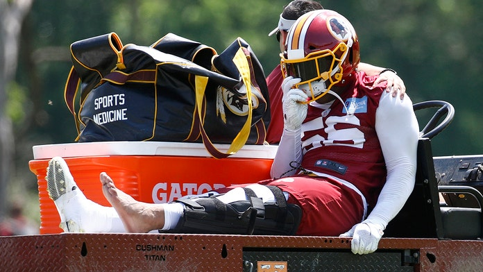 Washington Redskins' Reuben Foster tears ACL on third rep of organized team activities: report