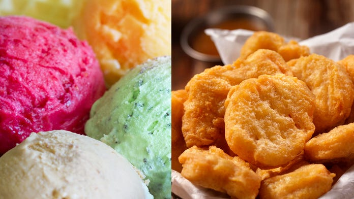 Rolled chicken nugget ice cream is a thing now