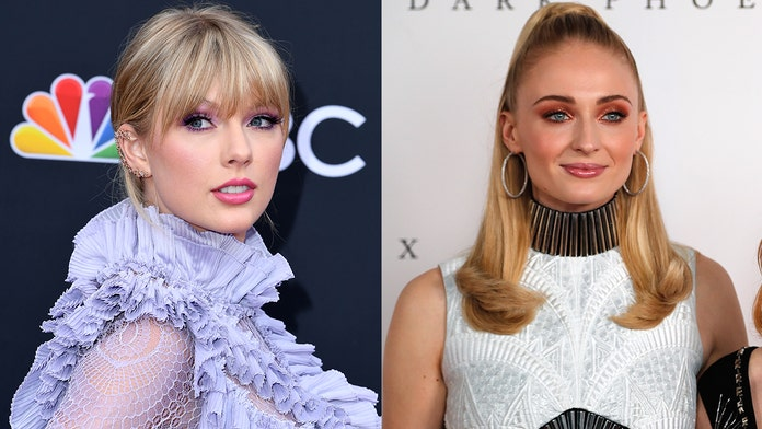 Joe Jonas' ex Taylor Swift and new wife Sophie Turner cross paths for the first time on talk show