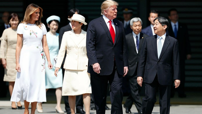 Trump, in Japan, meets Emperor Naruhito ahead of news conference with Abe
