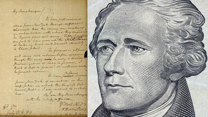 1780 Alexander Hamilton letter was stolen more than 74 years ago; now give it back