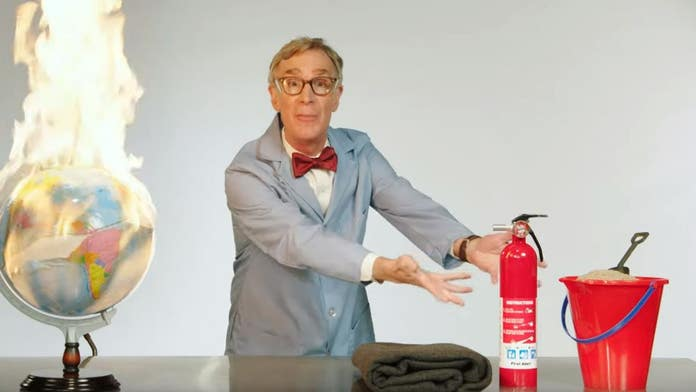 Bill Nye explains global warming: 'The planet is on f---ing fire'