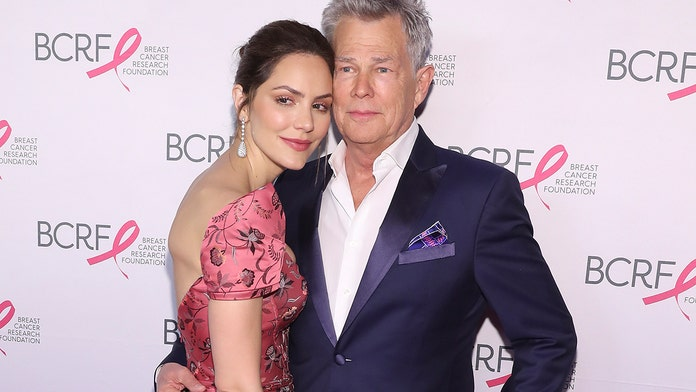 Katharine McPhee sings 'secret' new song by husband David Foster while rehearsing on elliptical