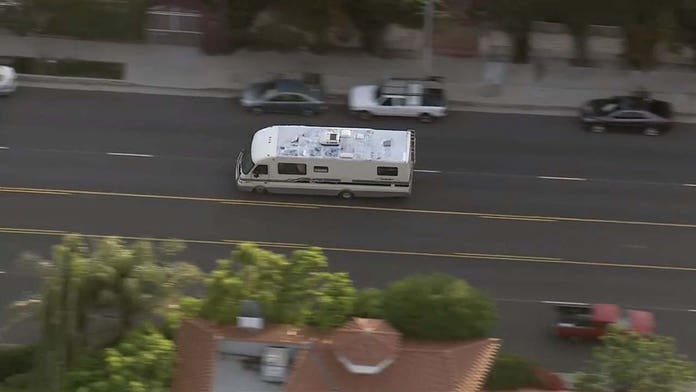 Suspect in custody after police chase RV in Southern California; dog seen tumbling from vehicle