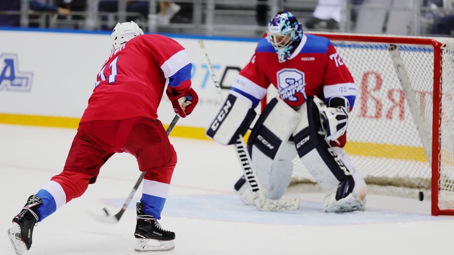 Russia's Putin scores eight goals in all-star hockey game