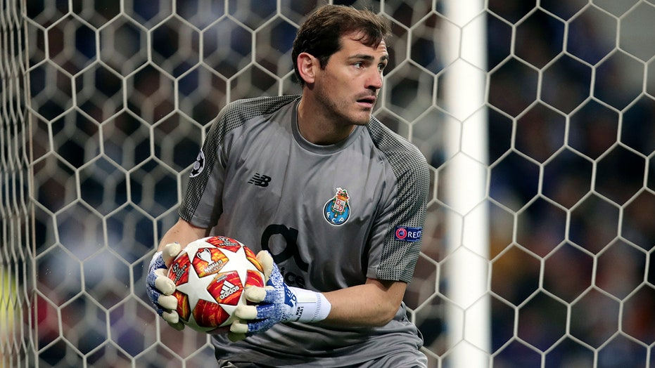 990491077 Ex-Real Madrid goalie and Spanish captain Iker Casillas suffers ...